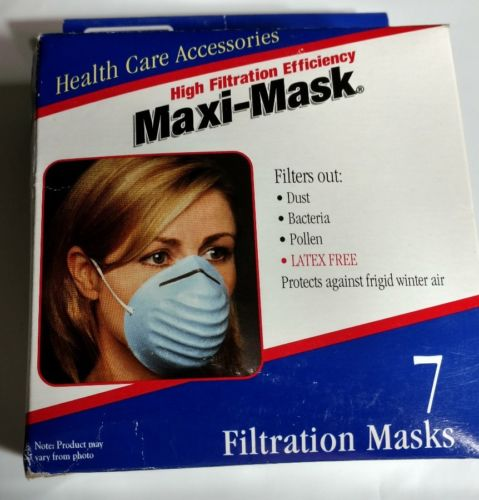 Maxi-Mask High Filtration Efficiency health care accessories qty 7 in box new