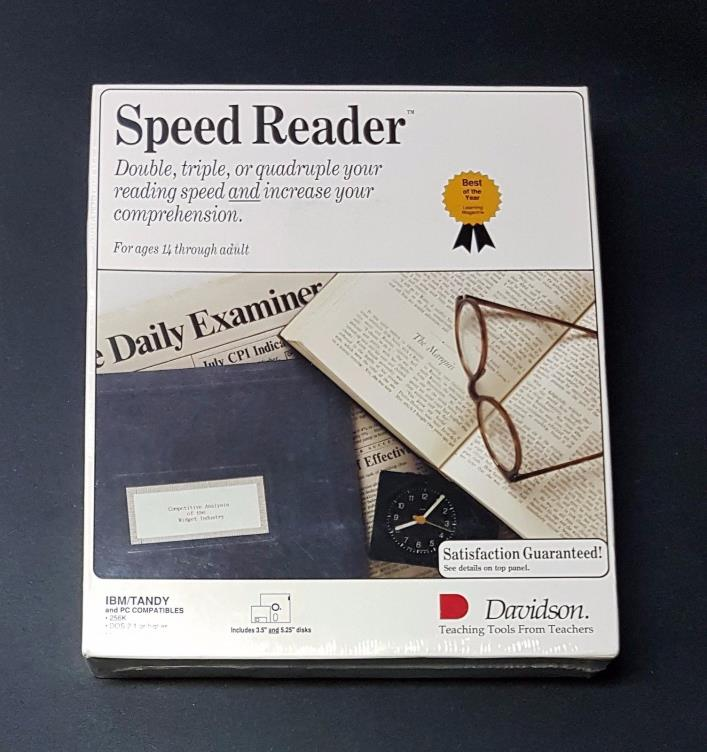 Vintage Speed Reader (Formerly Speed Reader II) - 1991 - New In Box