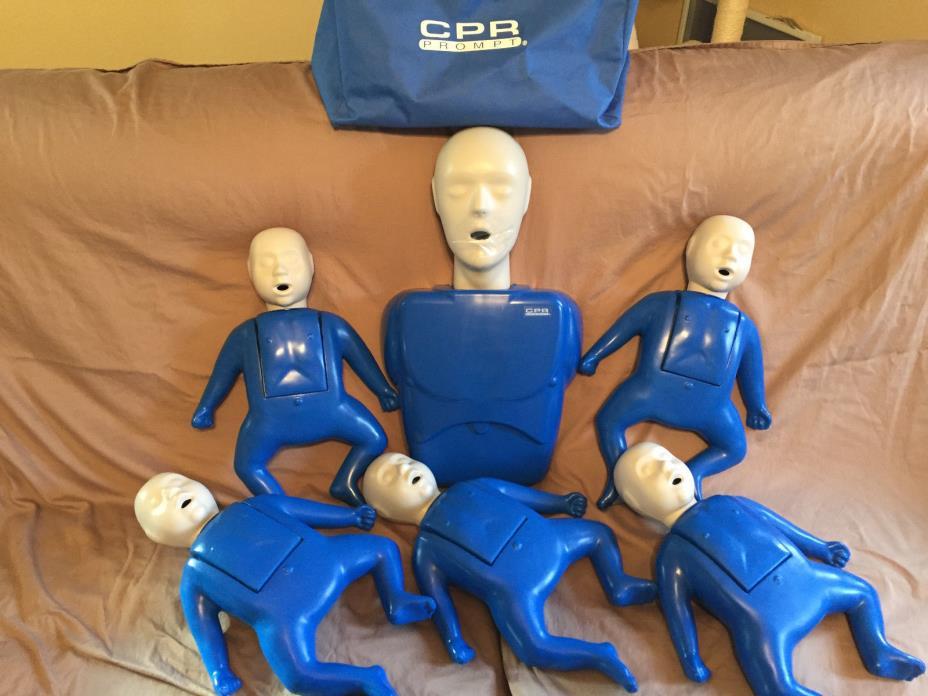 CPR Prompt (5 Pack) BLUE Infant Manikins, 1 adult/child manikin, nylon case