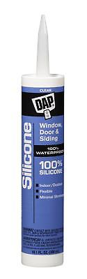 Dap 8641 Watertight Silicone Rubber Sealant, 10.1 oz, Cartridge, Clear, Paste