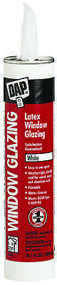 DAP 12108 Ready-to-Use Glazing Compound, 10.5 oz, White, Slight, Paste, 50.4
