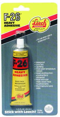 Leech F26-32 Construction Adhesive, 1.25 oz, Tube, Beige, Mastic