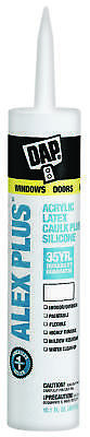 Alex Plus 18156 Acrylic Latex Caulk With Plus Silicone, 10.1 oz, Cartridge,