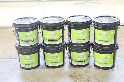 Lot of (8) APAC-610 Pressure sensitive Flooring Adhesive 4 GALLON BUCKET