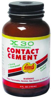 Leech X30-74 Contact Cement, 4 oz, Bottle, Clear