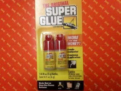 2 PACK THE ORIGINAL SUPER GLUE WORK FOR METAL,WOOD,PLASTIC MORE