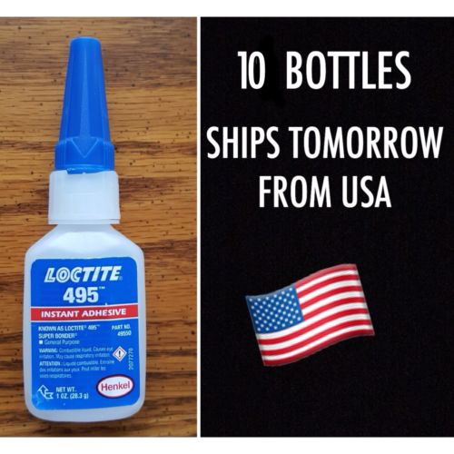 10 1 oz. Loctite Super Bonder 495 49550 Ships TOMORROW from USA Instant Adhesive