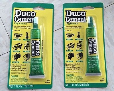 Devcon Duco 62435 Household Cement Glue 1oz. Tube - 2 PACK! NEW