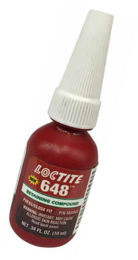 Loctite 648 442-21443 10ml Retaining Compound, High Strength and Rapid Cure, Gre