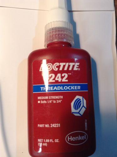 Loctite 242 Medium Strength Threadlocker #24231 - 50ml - Made In USA