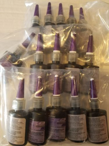 Lot of 15 Bottles 3M 3493 Scotch-Weld Threadlocker 10 ml Purple 56798