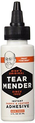Tear Mender TG-2 Bish's Original Instant Fabric and Leather Adhesive 2 oz Bottle