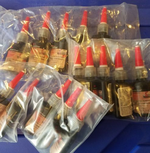 Lot of 15 bottles 3M Scotch-Weld 3496 Threadlocker 10 ml Red High Strength 57314