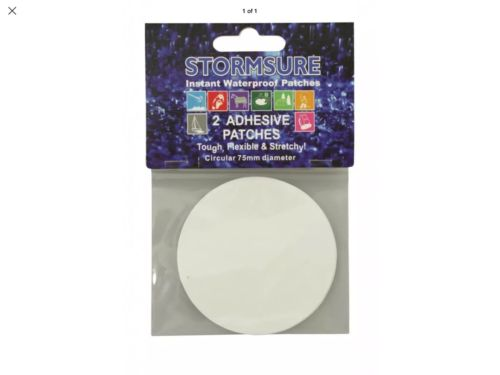 Stormsure Adhesive Waterproof Round  Patches Pack of 2 X 75mm