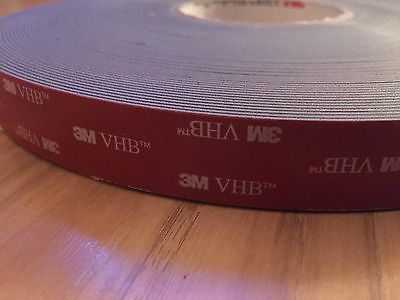 3M 5952 VHB Tape, 1 In x 36 yd ea., Black (6 Roll Lot)