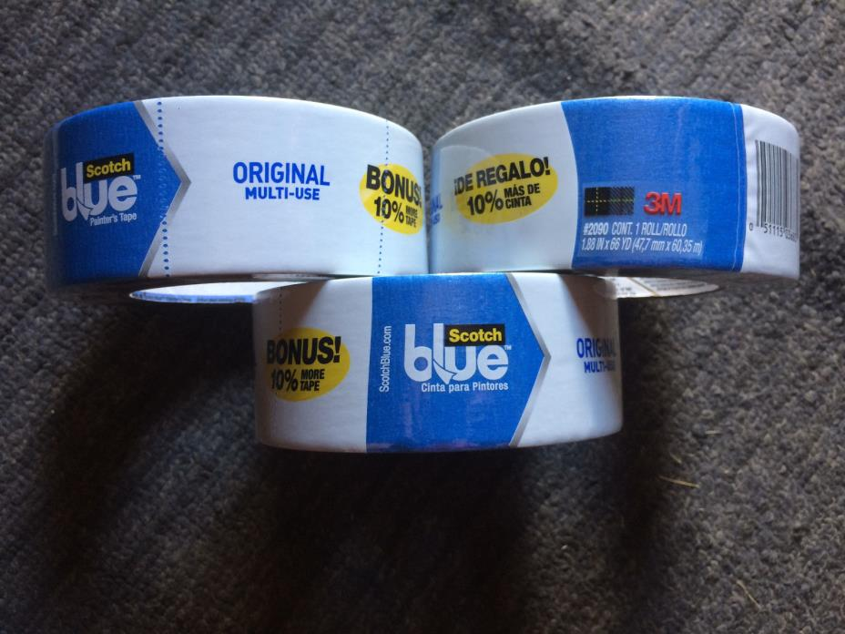 3PC 3M Scotch Blue Painter's Tape 1.88