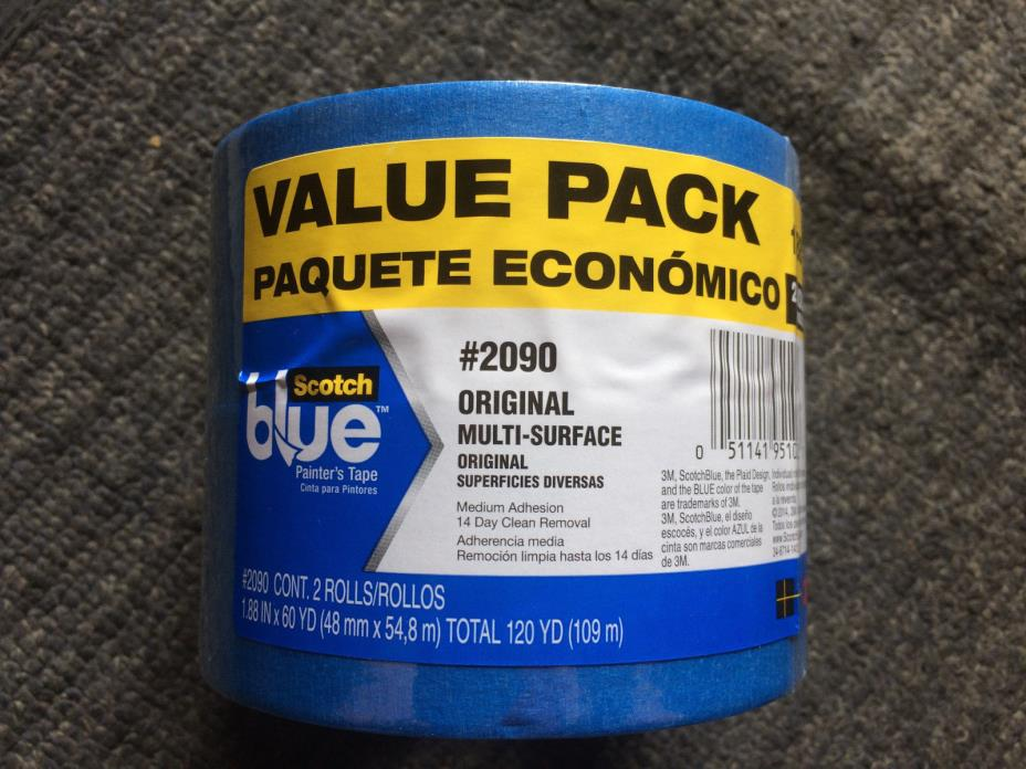 8PC 3M Scotch Blue Painter's Tape 1.88