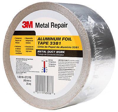 Aluminum Foil Tape, Silver, 1.88