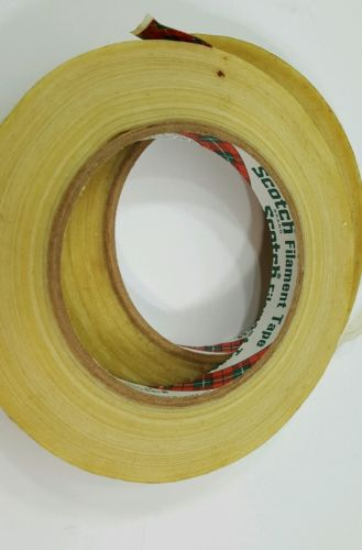 2 Vintage  Scotch Filament Tape Vintage Made in USA 12.7m x 54.8m or 60 yds.