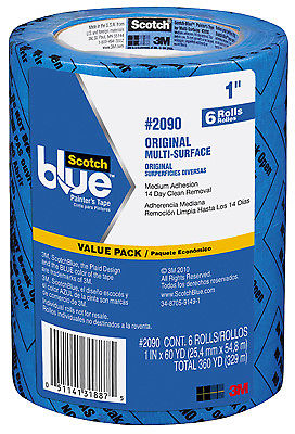 Blue Painter's Tape, 24 Mm X 55m, 6 PK., 3M, 2090-24EVP.