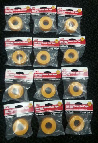 12 spools PTFE Gas Teflon Tape 1/2x260