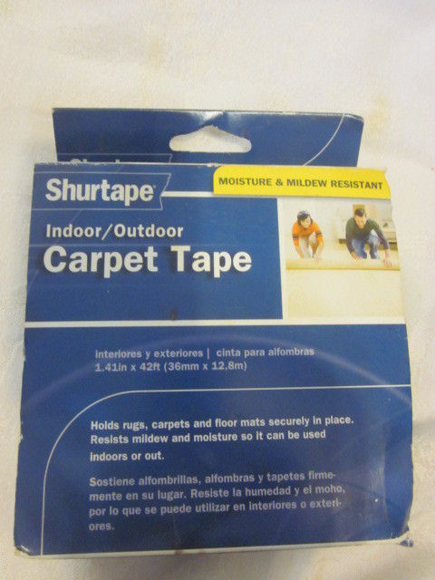 New Shurtape Indoor / Outdoot Carpet Tape Moisture Resistant 36mm 1.41in x 42ft