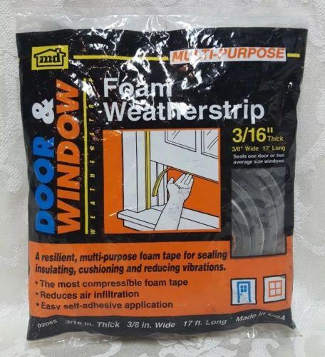 M-D Multi-Purpose Foam Tape Weatherstrip Door Window 17