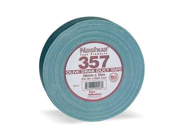 NASHUA 357 Duct Tape, 48mm x 55m, 13 mil, Olive Drab - Free Shipping over $50!