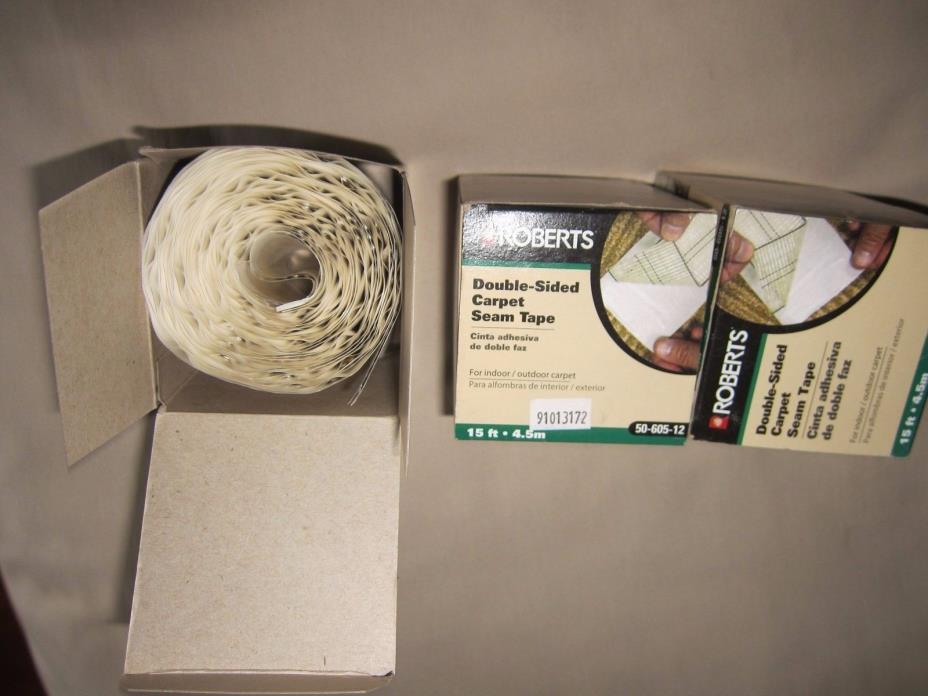 3 Roberts 50-605-12 Double-Sided Carpet Tape, For Indoor and Outdoor Carpets