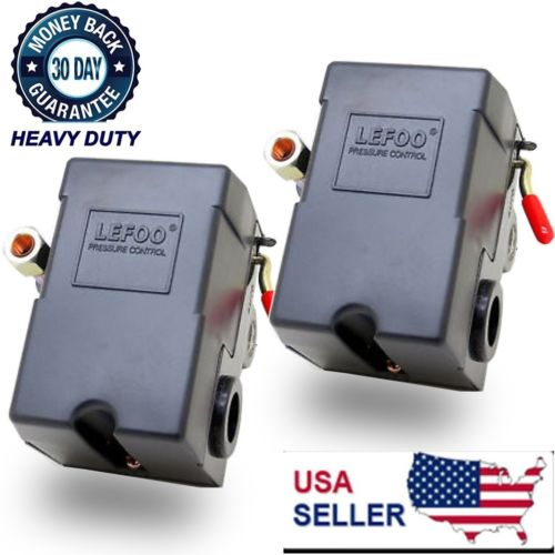 2X 1 Port Air Compressor Pressure Switch Control Valve 95-125 PSI w/ Unloader OY