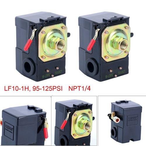 2X Pressure Switch for Air Compressor 95-125 psi 1 PORT unloader&on/off lever HT