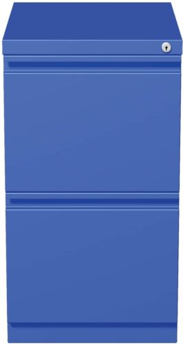 20-inch Blue Moblie Pedestal File/ File With Extended Front And Full Width