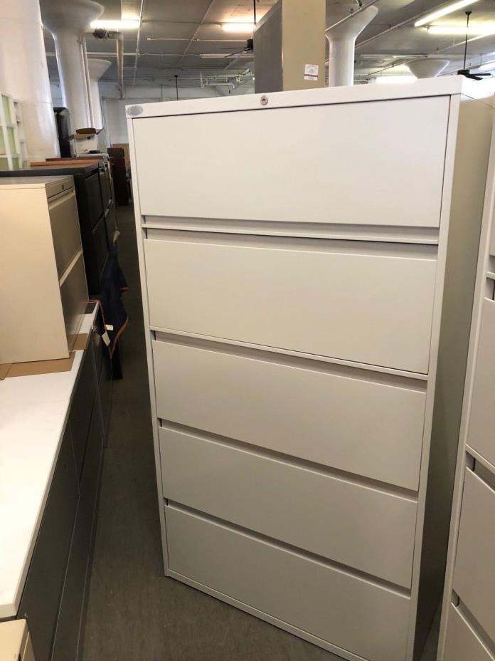 5 DRAWER LATERAL SIZE FILE CABINET by STEELCASE 900 SERIES w/LOCK&KEY 36