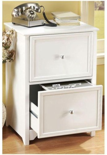 File Cabinet Home Office 2 Drawer Filing Storage Organization Oxford White