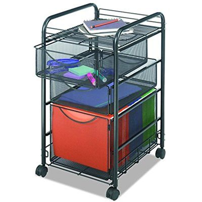 5213BL Onyx Mesh File Cart Drawer Storage Drawers, Letter Size, Black
