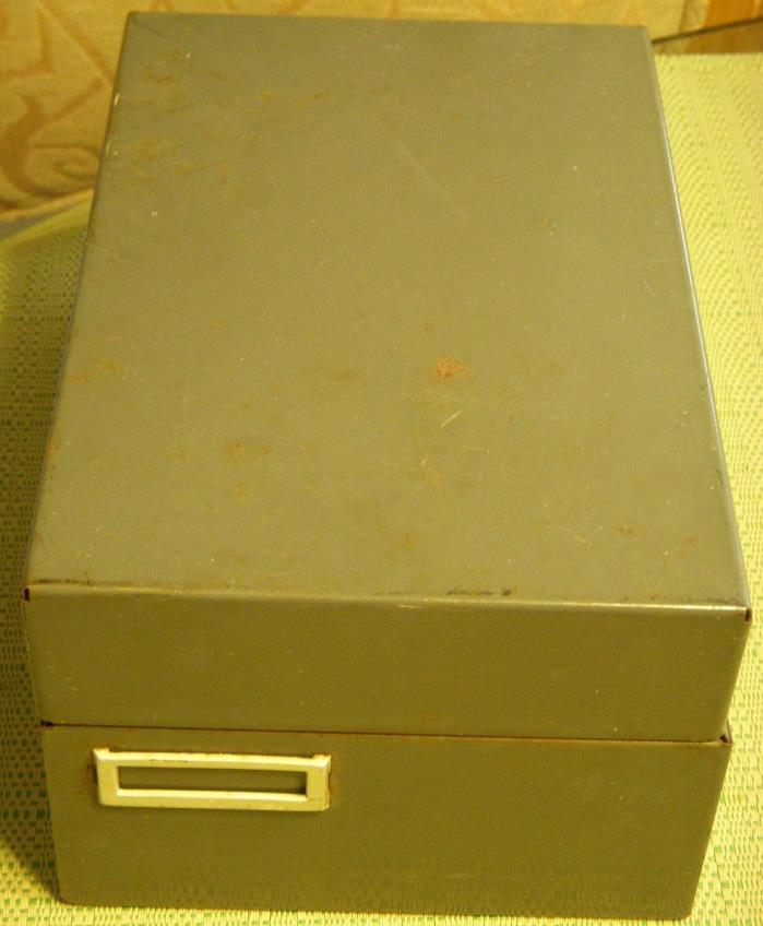 Steelmaster Card Cabinet 935 5 1/2 x 4 x 8 1/2 Gray Vtg File Box For cards