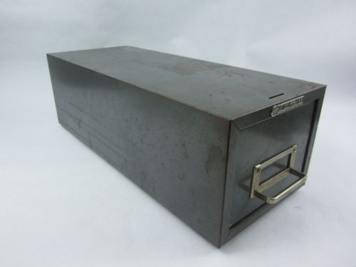 Vintage Steelmaster Drawer Metal Industrial File Box Gray Stackable USA