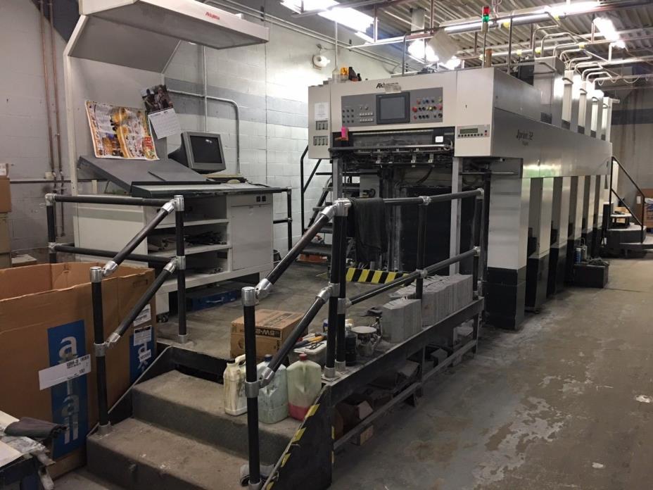 2001 Akiyama JPrint 32 10 color offset printing press