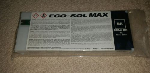 Roland ECO-SOL MAX ESL3-BK  220cc Black NEW