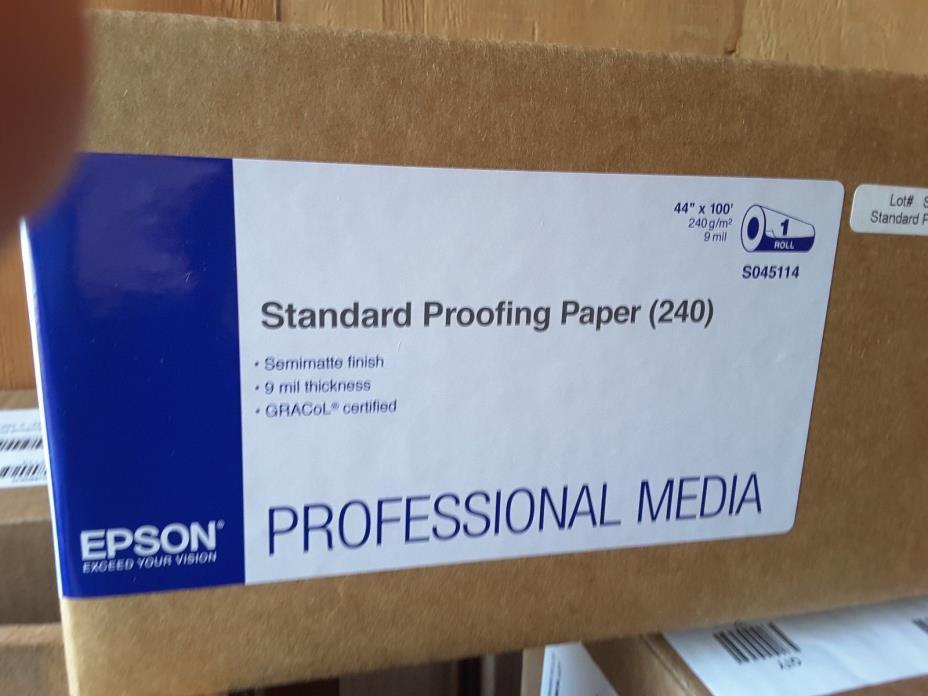 epson standard proofing paper (240) 44 x 100 #S045114 semi matte 9 mil.