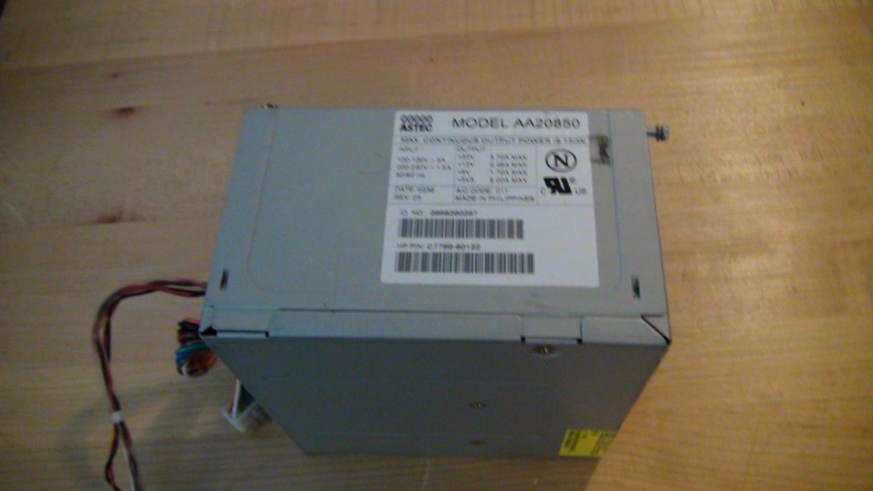 HP Designjet 500/800 Series Power Supply  ASTEC AA20850