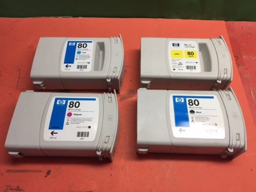 GENUINE HP #80 INK CARTRIDGE COMPLETE SET OF 4  Save Right Here! C4871A