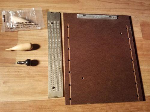 Vintage Braille Press Blind Punch & Howe Press Puncher Sealed Perkins New