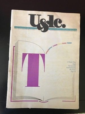 Out of Print U&LC Typography Graphic Design Magazine Winter 1989, vol 16, #1