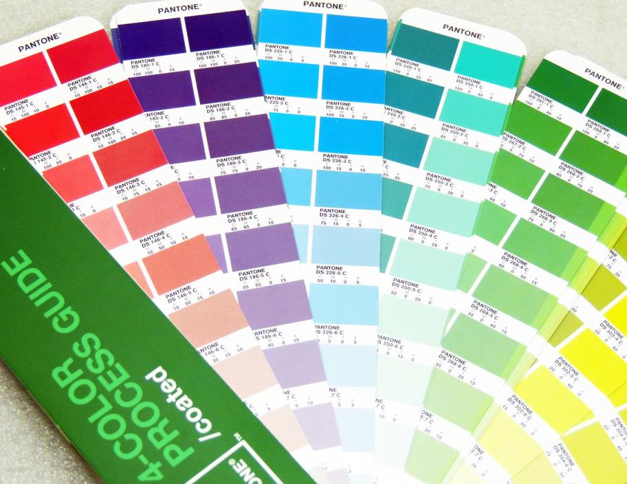 Pantone 4 Color Process Guide (CMYK) COATED Large Edition 3,010 Process Colors