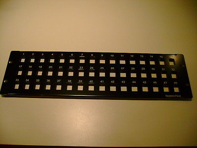 Keystone Jack Snap-in Blank Patch Panel 48 Port 3U  CAT5E/CAT6 19