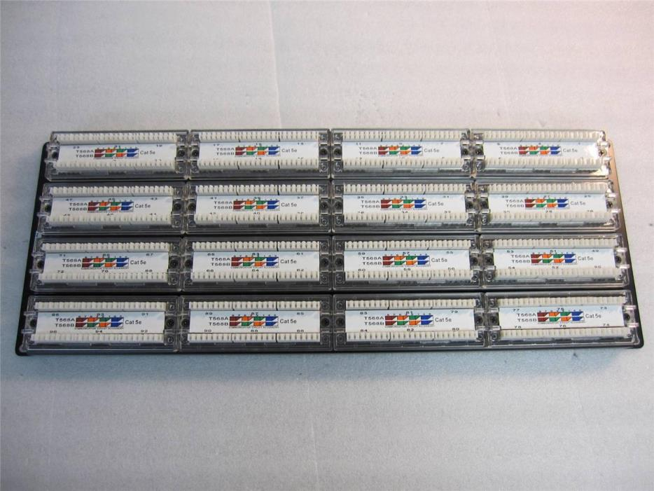 Lot of 6 BlackBox 724-746-5500 GigaBase CAT5e Patch Panel