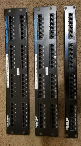 2ea Leviton 48 Port CAT 5e patch panel 1ea 24 Port