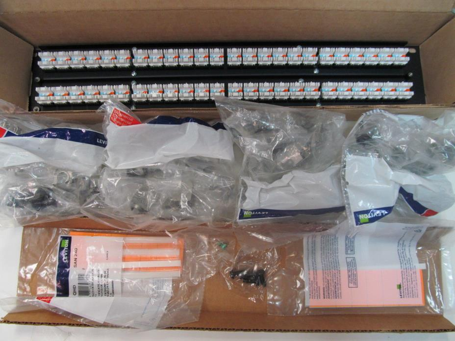 Leviton 6910G-U48 48-Port Patch Panel w/eXtreme 10G Connectors New In Box