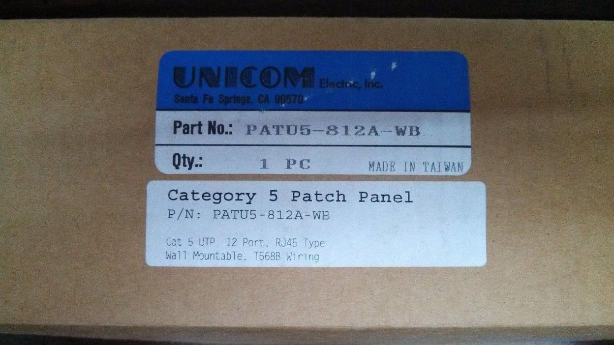 Unicom Category 5 Patch Panel-12port